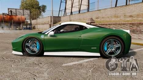 Ferrari 458 Italia para GTA 4 esquerda vista