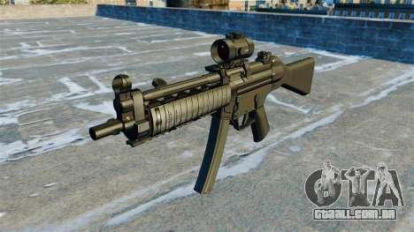 Pistola-metralhadora MP5 RIS Nom900a para GTA 4