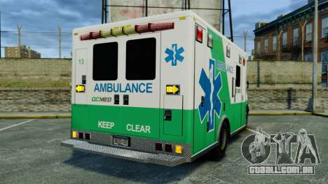 Brute GQ Med Ambulance [ELS] para GTA 4 traseira esquerda vista
