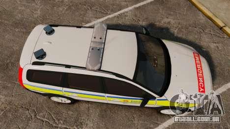 Volvo XC70 Emergency Response Unit [ELS] para GTA 4 vista direita