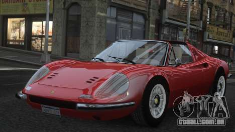 Ferrari Dino 246 GTS para GTA 4 vista inferior