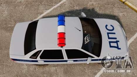 VAZ-2170 Polícia para GTA 4 vista direita