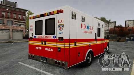 Ford F-250 Super Duty FDLC Ambulance [ELS] para GTA 4 traseira esquerda vista