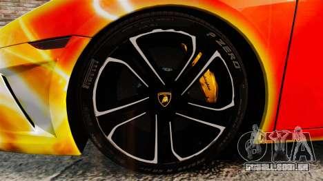 Lamborghini Gallardo 2013 Red Light para GTA 4 vista de volta