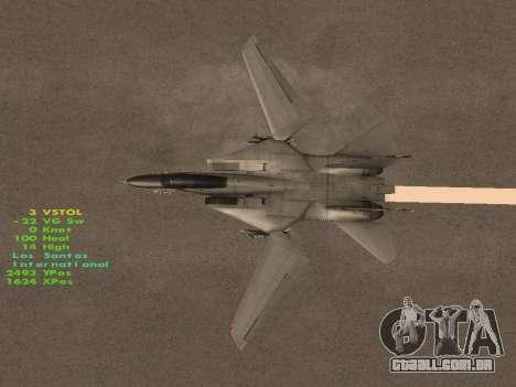 F-14 Tomcat HQ para GTA San Andreas interior