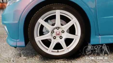 Honda Civic Type R 2007 para GTA 4 vista de volta