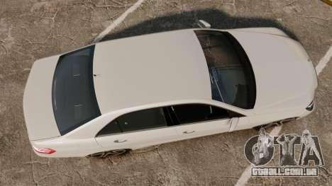 Mercedes-Benz E63 AMG 2014 v2.0 para GTA 4 vista direita