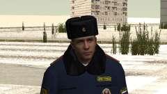Pak policiais no inverno uniformes