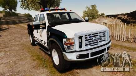 Ford F-250 Super Duty Police [ELS] para GTA 4