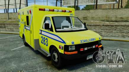 Brute New Liberty Ambulance [ELS] para GTA 4