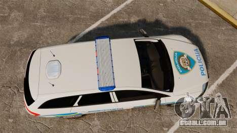 Ford Mondeo Croatian Police [ELS] para GTA 4 vista direita