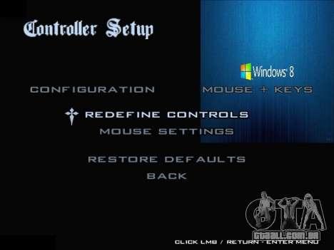O Menu Do Windows para GTA San Andreas nono tela
