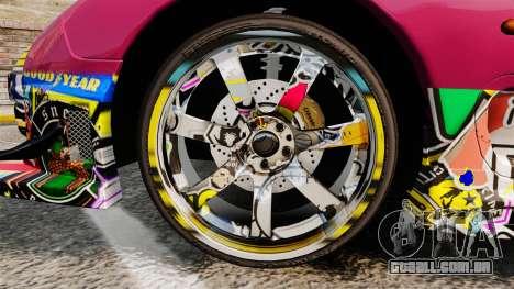 Mazda RX-7 D1 Sticker Bomb para GTA 4 vista de volta