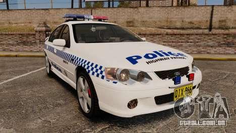 Ford Falcon XR8 Police Western Australia [ELS] para GTA 4