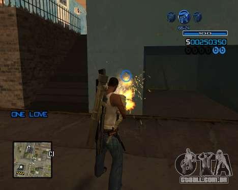 C-HUD Minimal para GTA San Andreas terceira tela