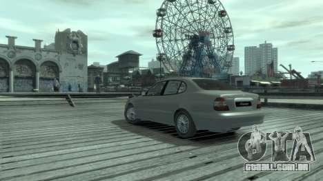 Daewoo Leganza para GTA 4 traseira esquerda vista
