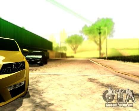 Skoda Octavia A7 RS para GTA San Andreas vista traseira