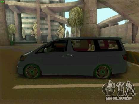 Toyota Alphard para GTA San Andreas esquerda vista