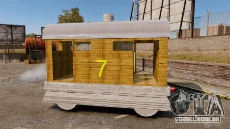 Trem-Toby- para GTA 4 esquerda vista