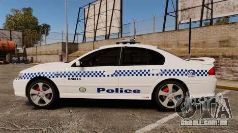 Ford Falcon XR8 Police Western Australia [ELS] para GTA 4 esquerda vista