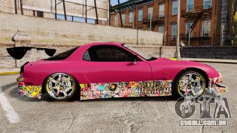 Mazda RX-7 D1 Sticker Bomb para GTA 4 esquerda vista
