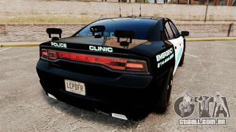 Dodge Charger 2011 Liberty Clinic Police [ELS] para GTA 4 traseira esquerda vista