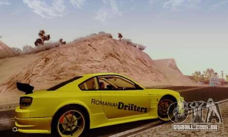 Nissan Silvia S15 Romanian Drifters para GTA San Andreas vista traseira