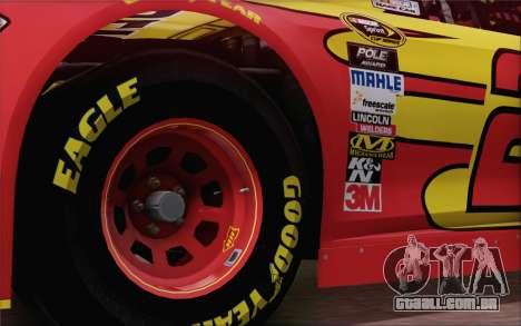 Ford Fusion NASCAR Sprint Cup 2013 para GTA San Andreas traseira esquerda vista