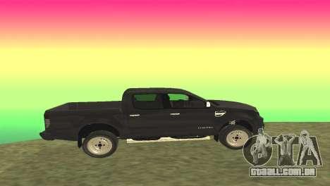 Ford Ranger Limited 2014 para GTA San Andreas esquerda vista