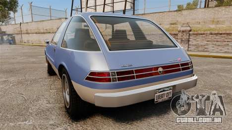 Declasse Rhapsody para GTA 4 traseira esquerda vista