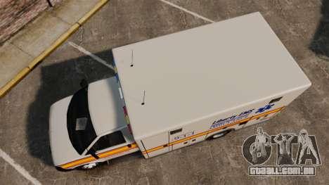 Brute Speedo LEMS Ambulance [ELS] para GTA 4 vista direita