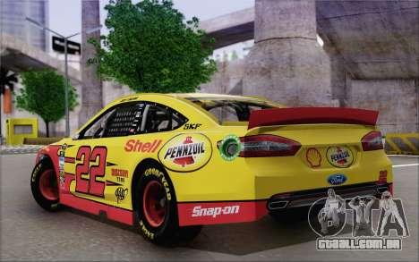 Ford Fusion NASCAR Sprint Cup 2013 para GTA San Andreas esquerda vista