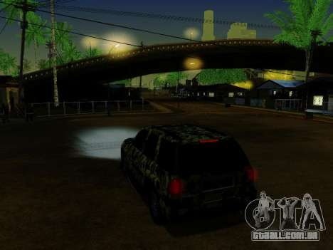 Chevrolet TrailBlazer Army para GTA San Andreas vista inferior