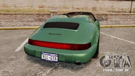 Porsche 911 Speedster para GTA 4 traseira esquerda vista