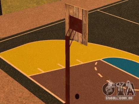 Nova quadra de basquete para GTA San Andreas por diante tela
