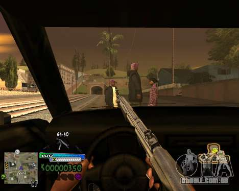 Vista da primeira pessoa para GTA San Andreas por diante tela