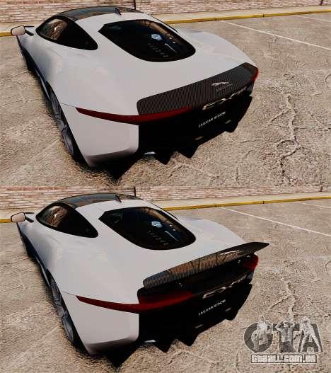 Jaguar C-X75 [EPM] Carbon Series para GTA 4 vista superior