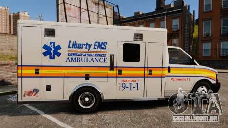Brute Speedo LEMS Ambulance [ELS] para GTA 4 esquerda vista