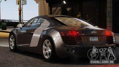 Audi R8 v1.1 para GTA 4 esquerda vista