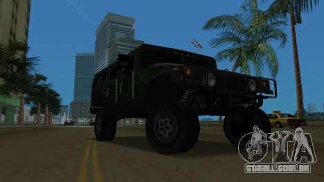 Hummer H1 Wagon para GTA Vice City deixou vista