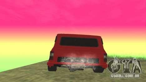Ford Transit Supervan 3 Personalizado para GTA San Andreas traseira esquerda vista