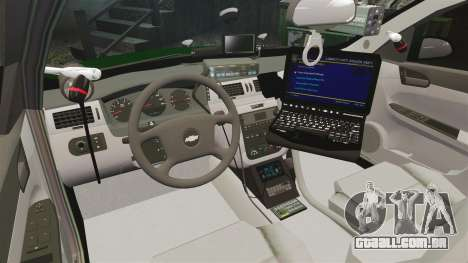 Chevrolet Impala 2010 Broward Sheriff [ELS] para GTA 4 vista de volta