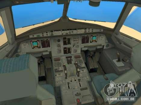 Airbus A320-200 Saudi Arabian para GTA San Andreas vista interior