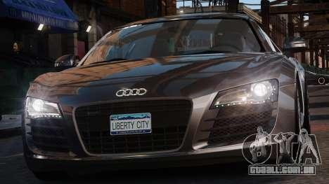 Audi R8 v1.1 para GTA 4 vista de volta