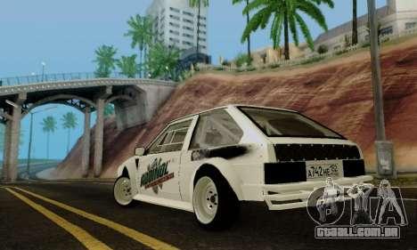 VAZ 2108 RDA para GTA San Andreas traseira esquerda vista
