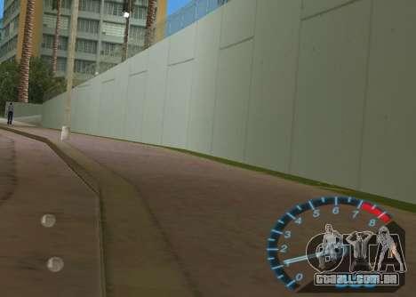 O velocímetro de NFS Underground para GTA Vice City segunda tela