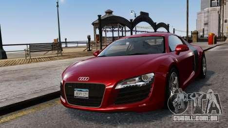 Audi R8 v1.1 para GTA 4 vista superior