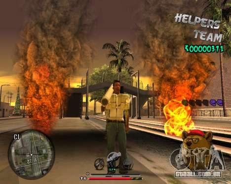 C-HUD Bear para GTA San Andreas terceira tela