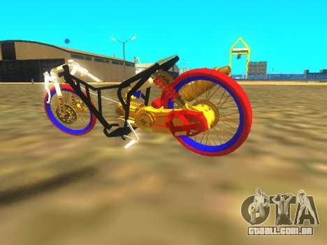 Drag Mio Full GOLD para GTA San Andreas vista interior