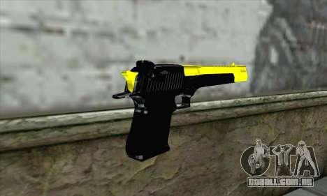 Yellow Desert Eagle para GTA San Andreas segunda tela